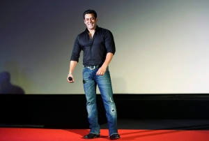 In this July 15, 2015 file photo, Indian Bollywood actor Salman Khan smiles as he attends the trailer launch of his upcoming movie 'Hero' in Mumbai, India. (AP Photo/Rajanish Kakade)