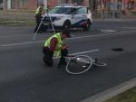 cyclist, struck