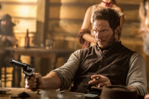 "In this image released by MGM/Columbia Pictures, Chris Pratt appears in a scene from, ""The Magnificent Seven."" (Sam Emerson/MGM/Columbia Pictures via AP)"