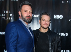 "FILE - In this Aug. 10, 2015 file photo, Ben Affleck, left, and Matt Damon attend the ""Project Greenlight"" premiere of ""The Leisure Class"" in Los Angeles. Damon said in an interview that he was shocked that that HBO didn't pick up ""Project Greenlight"" for a fifth season. The series chronicles the production of an independent film. Damon says that that they'll start shopping the show around again, and thinks that there are places like Netflix or Amazon where it might thrive for additional seasons. (Photo by Paul A. Hebert/Invision/AP, File)"