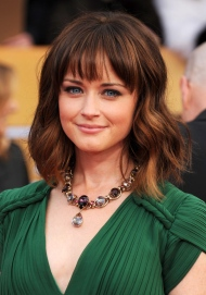 In this Jan. 27, 2013 file photo, Alexis Bledel arrives at the 19th Annual Screen Actors Guild Awards in Los Angeles.  (Photo by Jordan Strauss/Invision/AP, File)