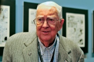 In this Oct. 11, 2011 file photo, cartoonist Jack Davis attends an event honoring him by the Savannah College of Art and Design and the National Cartoonists Society in Savannah, Ga. Davis, the prolific Mad magazine illustrator, cartoonist and movie poster artist, died Wednesday, July 27, 2016, according to the University of Georgia, his alma mater. He was 91. (AP Photo/Stephen Morton, File)