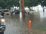 Flooding pictured at Glen Manor and Hubbard in the Beaches. (@campjer /Twitter)