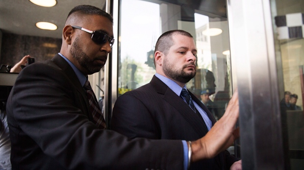 Constable James Forcillo arrives at a Toronto courthouse on Thursday, July 28, 2016 to be sentenced for the attempted murder of 18-year-old Sammy Yatim in 2013. THE CANADIAN PRESS/Michelle Siu