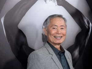 "In this March 15, 2016 file photo, actor George Takei attends the premiere of ""Mapplethorpe: Look at the Pictures"" in Los Angeles. Takei is speaking out against GOP presidential candidate Donald Trump, and he's doing it in Spanish in an English-subtitled video that's drawn more than 12 million views in less than two weeks online.(Photo by Phil McCarten/Invision/AP, File)"