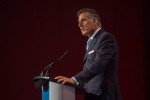 Conservative MP Maxime Bernier speaks at the 2016 Canadian Telecom Summit in Toronto, Tuesday, June 7, 2016. Conservative party leader candidate Maxime Bernier is calling for a phase-out of the Canadian broadcast regulator's role as telecom watchdog as part of his plan to deregulate the industry. THE CANADIAN PRESS/Eduardo Lima
