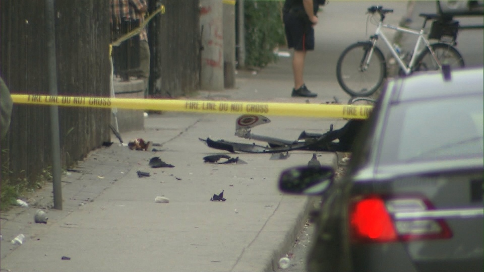 Police investigate a fatal hit-and-run that left a man dead at George and Gerrard streets Monday August 16, 2016.