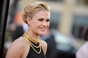 Anna Paquin arrives at the Los Angeles premiere of the 7th and final season of 'True Blood' at the TCL Chinese Theatre on Tuesday, June 17, 2014. (Invision / Richard Shotwell)