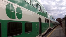 A regional GO Transit train is seen in this undated file photo.