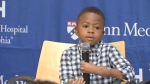 Boy who had hand transplant