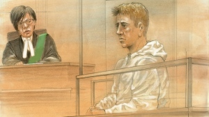 Brett Ryan, 35, has been charged with three counts of first-degree murder in relation to a crossbow shooting in Scarborough. He appeared in court on the charges on August 26, 2016. (John Mantha)