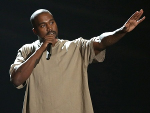In this Sunday, Aug. 30, 2015, file photo, Kanye West accepts the video vanguard award at the MTV Video Music Awards at the Microsoft Theater in Los Angeles. What will be the spectacle at the MTV Video Music Awards this year? A long rant from West? A surprise appearance from Beyonce? It's all possible, and likely. The show is returning to New York City Sunday, AUG. 28, 2016. (Photo by Matt Sayles/Invision/AP, File)