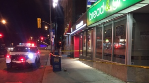 One suspect is in custody following a stabbing near Danforth and Broadview avenues last night. (Mike Nguyen/ CP24)