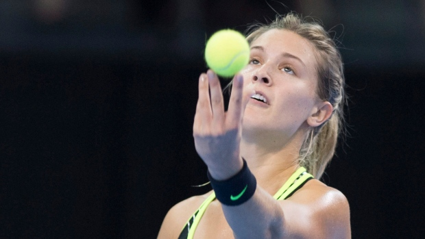 Eugenie Bouchard doesn't seem happy after rare victory