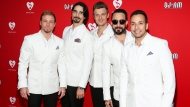 Brian Littrell, Kevin Richardson, Nick Carter, A.J. McLean and Howie Dorough of the Backstreet Boys attend the 12th Annual MusiCares MAP Fund Benefit Concert, in Los Angeles, on Thursday, May 19, 2016. (John Salangsang/Invision/AP)