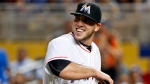 FILE - In this Friday, Sept. 9, 2016, file photo, Miami Marlins starting pitcher Jose Fernandez smiles as he leaves the mound after striking out Los Angeles Dodgers' Yasiel Puig to end the seventh inning of a baseball game, in Miami. The Marlins announced Sunday, Sept. 25, 2016, that ace right-hander Fernandez has died. The U.S. Coast Guard says Fernandez was one of three people killed in a boat crash off Miami Beach early Sunday. (AP Photo/Wilfredo Lee, File)