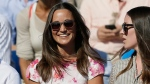In this Friday, June 19, 2015 file photo, Pippa Middleton, left, the sister of Kate, the Duchess of Cambridge, watches the quarterfinal tennis match between Canada's Milos Raonic and France's Gilles Simon on the fifth day of the Queen's Championships in London. London police said Saturday, Sept. 24, 2016, they are investigating the reported hacking of the iCloud account of Pippa Middleton, younger sister of Catherine, Duchess of Cambridge. (AP Photo/Tim Ireland, File)