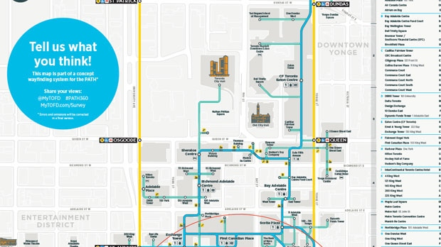 BIA asks for public to weigh in on new PATH map CP24com