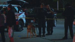 One teen is in hospital with serious injuries after a stabbing in Rexdale Monday night.