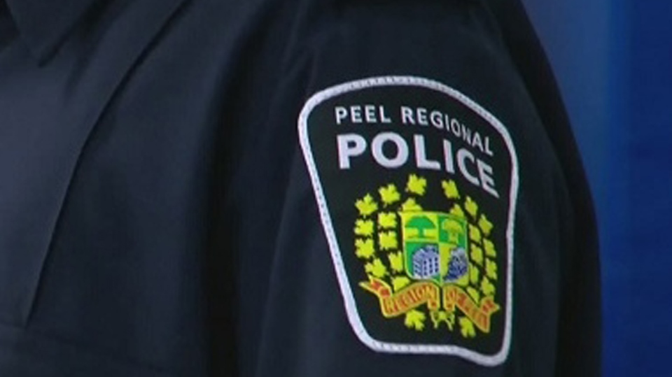 A Peel Regional Police badge is seen here in this undated photo.