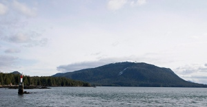 Lelu Island, near Prince Rupert, B.C., is seen March 8, 2013. (The Canadian Press/Robin Rowland)