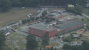 Townville Elementary School is seen in this aerial photo from Wednesday September 28, 2016.