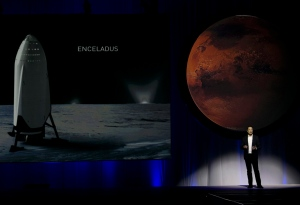 SpaceX founder Elon Musk speaks during the 67th International Astronautical Congress in Guadalajara, Mexico, on Tuesday, Sept. 27, 2016. (AP Photo/Refugio Ruiz)
