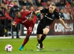 Toronto FC midfielder Armando Cooper (31) battles for the ball against D.C. United midfielder Rob Vincent (26) during first half MLS soccer action in Toronto on Saturday, October 1, 2016. THE CANADIAN PRESS/Nathan Denette