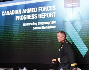Chief of Defence Staff General Jonathan Vance attends a news conference in Ottawa in an August 30, 2016, file photo. THE CANADIAN PRESS/Fred Chartrand