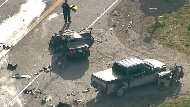 One man dead after three-vehicle collision in Caledon
