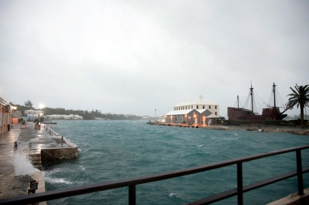 Hurricane Nicole roars across Bermuda, moves into Atlantic