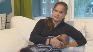 Alexandra Shimo says she was escorted to the basement of a golf club after patrons complained about her breastfeeding.