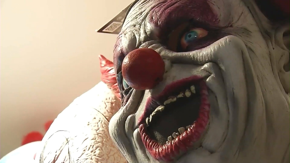 A scary clown mask is shown in this file image.