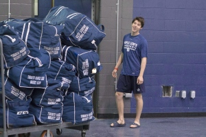 Toronto Maple Leafs' Mitch Marner is pictured at the team's training facility in Toronto, on Thursday September 22, 2016. Players sometimes joke in the Maple Leafs dressing room that Marner is young enough to be their kid.One of two teenagers on the Toronto roster, Marner looks even younger than his 19 years off the ice. On it, he and Auston Matthews, also 19, look every bit like ready-made NHL players.THE CANADIAN PRESS/Chris Young