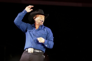 """FILE - In this July 8, 2016, file photo, Garth Brooks sings """"Ain't Going Down"""" during a concert at Yankee Stadium in New York. A week after launching its new paid streaming music service, Amazon announced a deal with one of the streaming music's biggest holdouts: country superstar Brooks. Brooks, who is the best-selling solo artist in U.S. history, has kept his music off streaming services for his entire career until Wednesday, Oct. 19, 2016, when select albums and songs will be available on Amazon Music Unlimited. (AP Photo/Julie Jacobson, File)"""