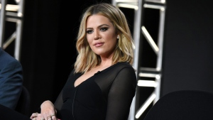 "Khloe Kardashian participates in the panel for ""Kocktails with Khloe"" at the FYI 2016 Winter TCA in Pasadena, Calif.on Jan. 6, 2016. (Richard Shotwell/Invision/AP)"
