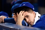 Toronto Blue Jays' Aaron Sanchez (41) looks on during ninth inning, game five American League Championship Series baseball action against the Cleveland Indians in Toronto on Wednesday, Oct. 19, 2016. (The Canadian Press/Nathan Denette)