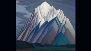 """Mountain Forms,"" an iconic 1926 Rocky Mountain canvas by Group of Seven member Lawren Harris is seen in this undated handout photo. The painting will make its way into new hands this November in Toronto as it goes up for sale at the live fall auction by Heffel Fine Art Auction House. THE CANADIAN PRESS/HO- Heffel Fine Art Auction House"