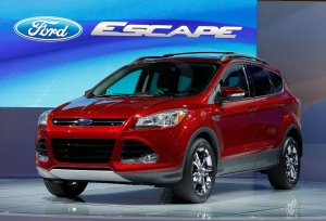 The 2012 Ford Escape is pictured at the Los Angeles Auto Show in this file photo from Wednesday, Nov. 16, 2011. (AP Photo/Reed Saxon)