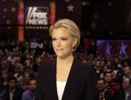 In this Jan. 28, 2016 file photo, Moderator Megyn Kelly waits for the start of the Republican presidential primary debate in Des Moines, Iowa. (AP Photo/Chris Carlson, File)