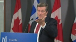 Mayor John Tory speaks at city hall Oct. 26, 2016.