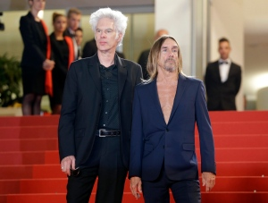 """In this May 20, 2016 file photo, director Jim Jarmusch, left and singer Iggy Pop, pose at the screening of the film """"Gimme Danger,"""" at the 69th international film festival, Cannes, southern France. (AP Photo/Lionel Cironneau)"""