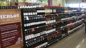 Wine was made available at select grocery stores across Ontario on Oct. 28, 2016. (CP24)