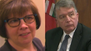 Patricia Sorbara and Gerald Lougheed Jr. are pictured in this combination photo.