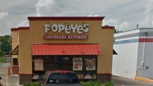 A Popeyes restaurant in Gulfport, Mississippi is pictured. (Google)
