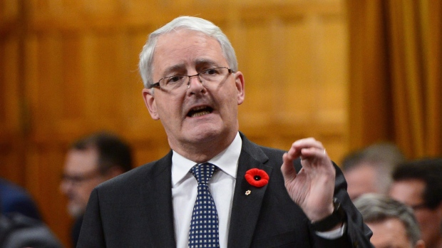 Minister of Transport Marc Garneau stands during question period in the House of Commons on Parliament Hill in Ottawa on Monday, Oct. 31, 2016. THE CANADIAN PRESS/Sean Kilpatrick