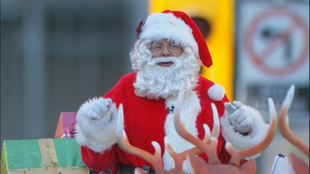 Santa Claus is coming to town on Saturday