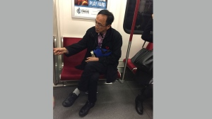 A suspect wanted in connection with an alleged voyeurism incident on the TTC is pictured in this photo distributed by Toronto police on Nov. 7, 2016.