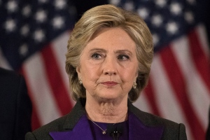 Democratic presidential candidate Hillary Clinton pauses while speaking in New York, Wednesday, Nov. 9, 2016, where she conceded her defeat to Republican Donald Trump after the hard-fought presidential election. (AP Photo/Matt Rourke)