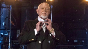 Don Cherry poses for a photo in Toronto on Monday, March 10, 2014. (THE CANADIAN PRESS / Chris Young)